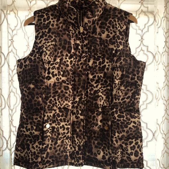 Charter Club Leopard Vest!